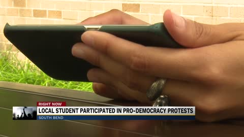 Michiana woman describes experience protesting in pro-democracy...